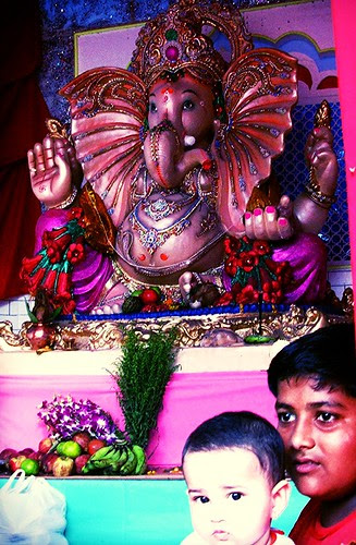 Marziya Shakir And The Bandra Bazar Ganpati 2008 by firoze shakir photographerno1