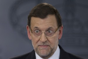 Spain's Premier Mariano Rajoy during a news conference in Madrid, Spain Tuesday April 23, 2013.