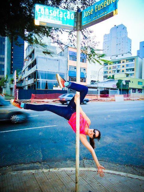Rua Pole dance (dança do pólo rua sao paulo)