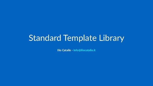 C++ Standard Template Library