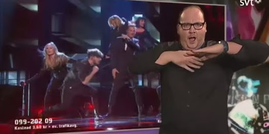 Swedish Sign Language Interpreter Becomes Viral Video Star
