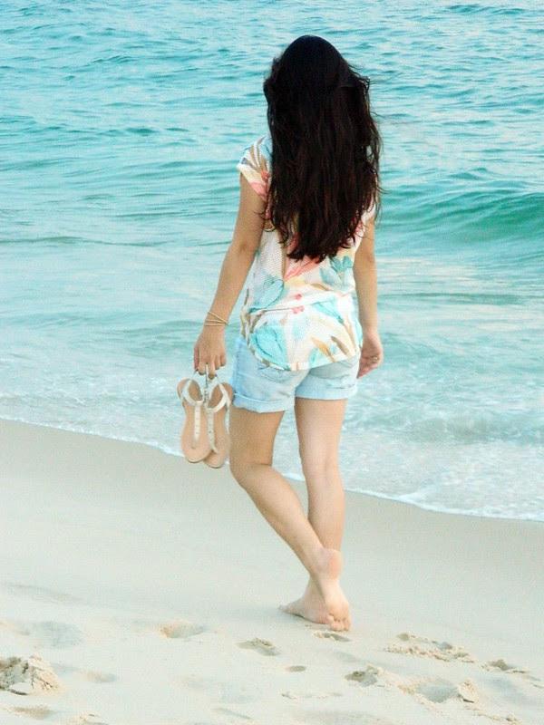 juliana leite make up praia look do dia jeans blusa floral verao 037