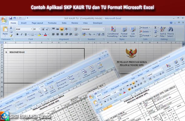 Contoh Aplikasi SKP KAUR TU dan TU Format Microsoft Excel