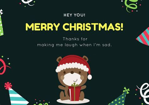 Thanks For Making Me Laugh. Free Merry Christmas Wishes