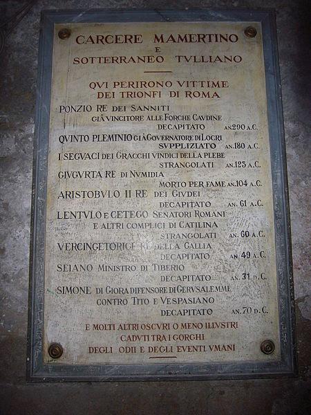 File:Campitelli - Mamertinum - giustiziati laici 1040075.JPG
