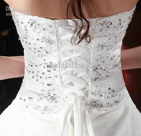 modest white strapless tulle crystal corset The Corset