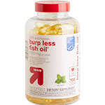100% Wild Alaskan Burp Less Fish Oil Dietary Supplement Softgels - 150ct - Up&Up