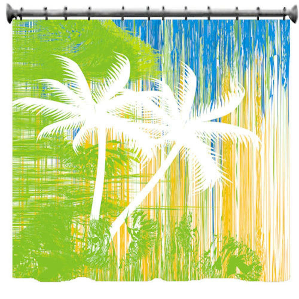 Abstract Palm Trees Shower Curtain 69 X 70 by susanakame1 on Etsy