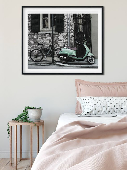 Modern Photography New Orleans Wall Art Colorful Scooter