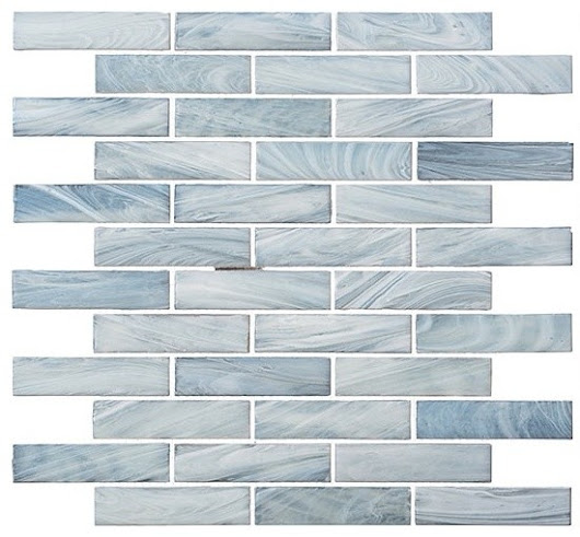 "12""x12.8"" Glass Tile New England Series - Contemporary - Mosaic Tile - by American Tile and Stone"