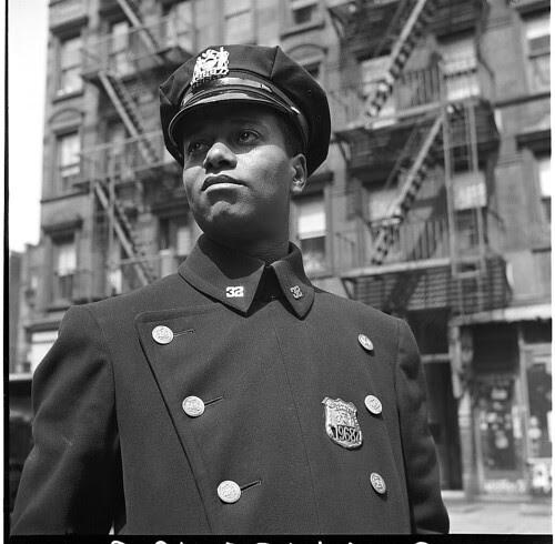 Officer in Blue, Harlem, 1943