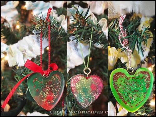 Crayon Wax tart Ornament Collage
