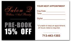 CPS-1001 - salon coupon card