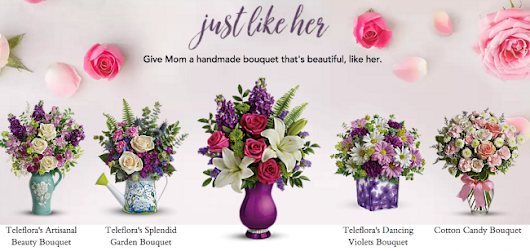 Teleflora Mother's Day Flower Bouquets {$75 teleflora gift card Giveaway!} - Eighty MPH Mom | Oregon Mom Blog