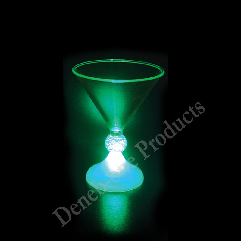 cocktail glass. LED Glass Flashing Cocktail