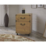 kathy ireland Office Ironworks 2 Drawer Mobile File Cabinet in Pine - KI50102-03