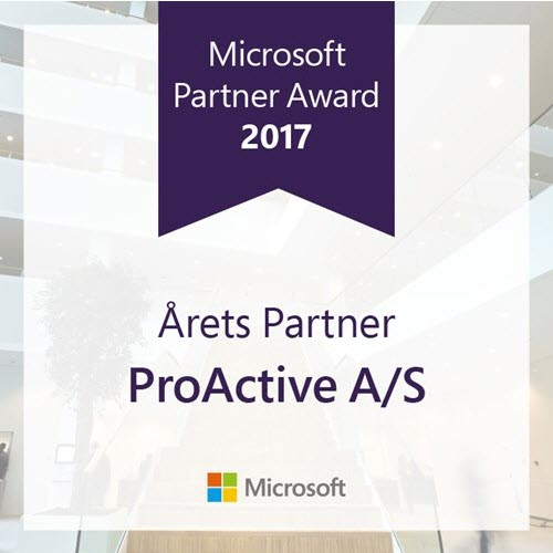 ProActive is the Microsoft Partner 2017