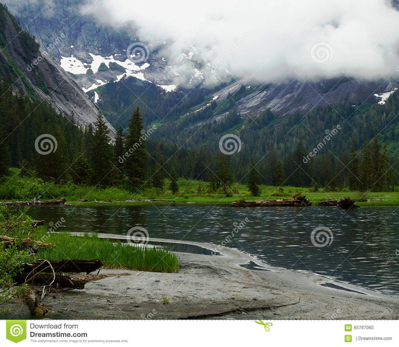 Lake In The Alaskan Wilderness Stock Photo  Image: 65797060