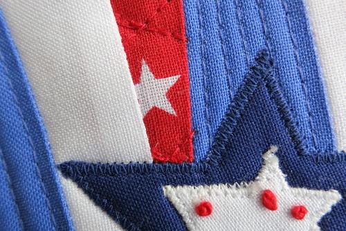 4th of July mug rug - sneak peek