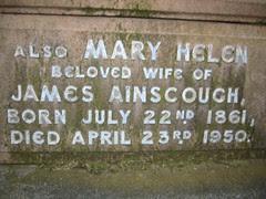 Mary Helen b. 22nd July 1861 – d.23rd April 1950