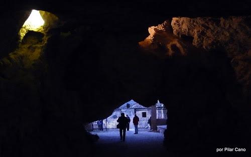 Dentro de la ermita de san saturio