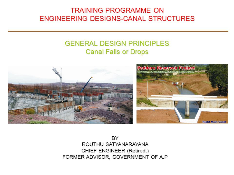 Engineering Designs Canal Structures General Design Principles Ppt