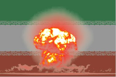 Iranian flag with H-bomb
