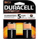Duracell 9V Alkaline Batteries 2-Pack