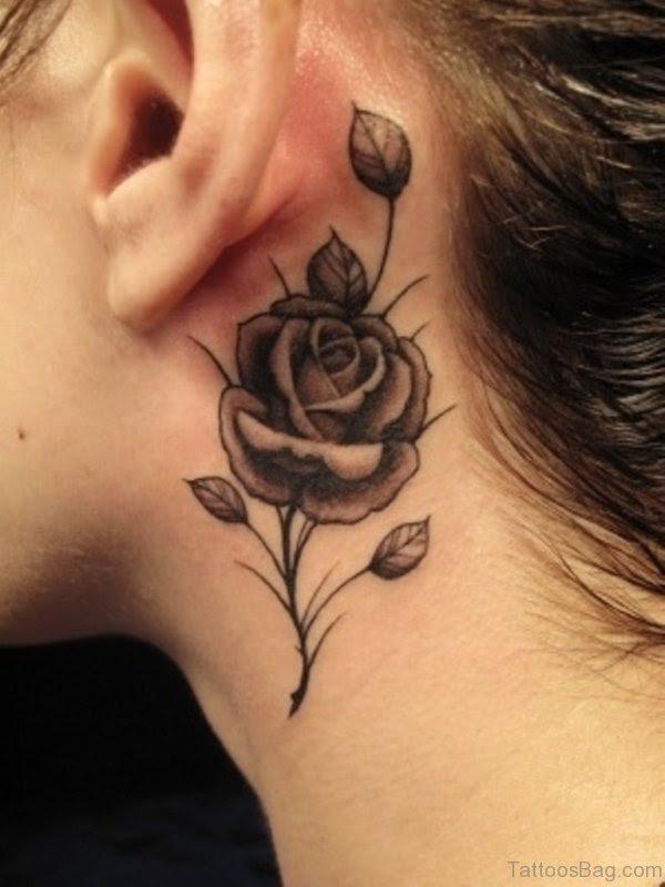 56 Enchanting Black And Gray Neck Tattoos