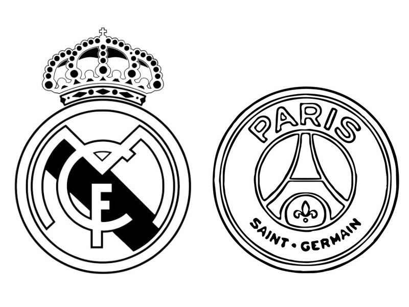Coloriage Ligue Des Champions 2018 Real Madrid Cf Paris Saint