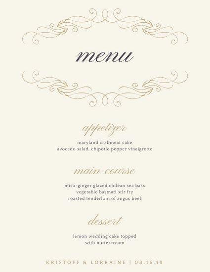 Customize 244  Elegant Menu templates online   Canva