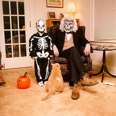 Henry and Matt at Halloween 1995
