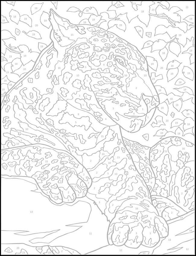 Advanced Color By Number Coloring Pages at GetColorings ...