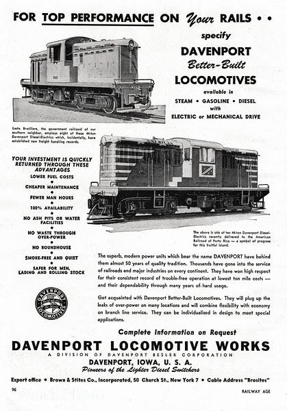 1948 Davenport Locomotive Works.