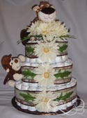 Jungle exlarge diaper cake