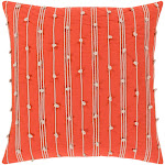 """Accretion Pillow Cover - Bright Orange, Cream - ACT005 Accretion - 22"""" x 22"""" Pillow Cover - Knife Edge - ACT005"""