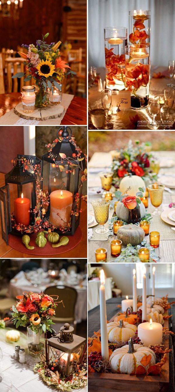 Autumn Fall Inspirational Centerpiece Ideas Tulsa Weddings Design