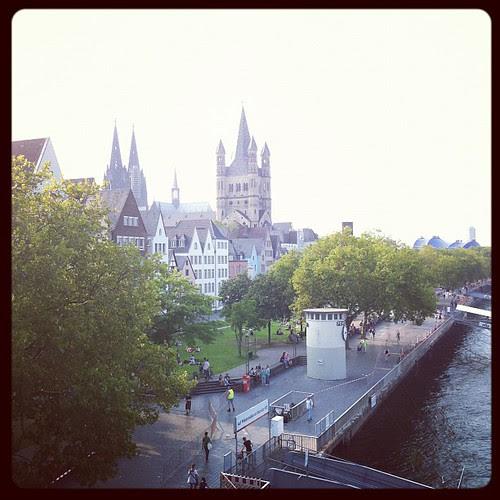 Auf der Rheinbrücke