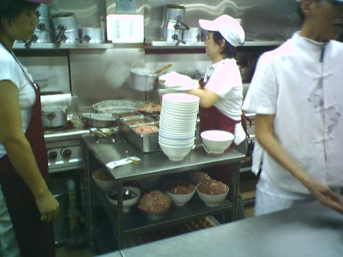 Ho Kee Porridge - check out the huge vat in the middle