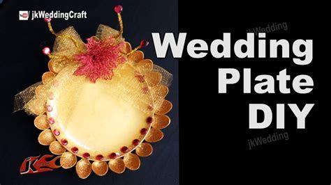 HOW to Make Wedding Plate   DIY Wedding Tray Decoration