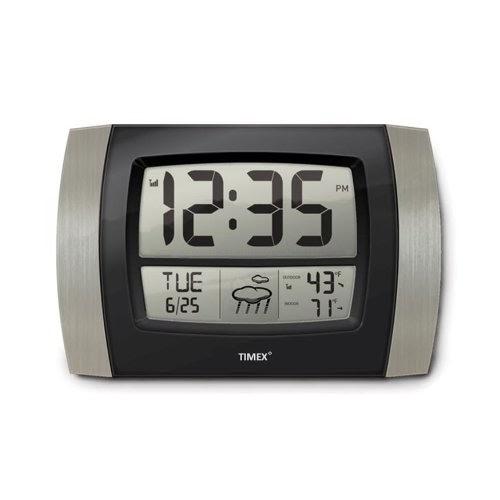 Kitchen Wall Clocks Timex 75329t Atomic Digital Wall