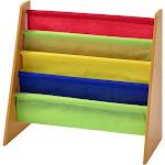 Muscle Rack Freestanding Kids Book Rack, Natural/Multi Color