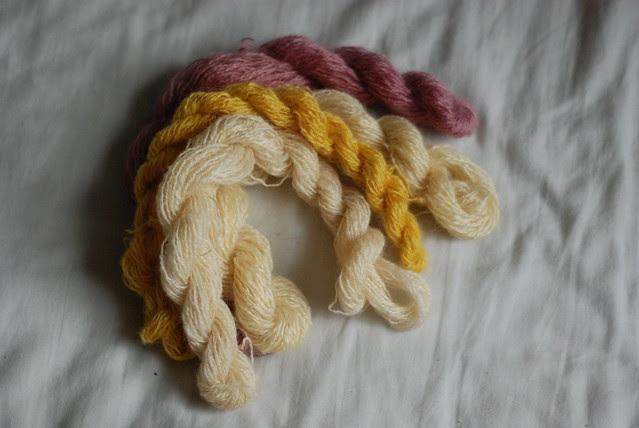 Handspun Wensleydale lustre longwool yarn natural white and dyed