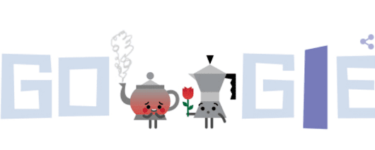 Valentine's Day Google Doodles: A Blushing Teapot, A Reading Hedgehog & A Candy-Giving Kleenex Box