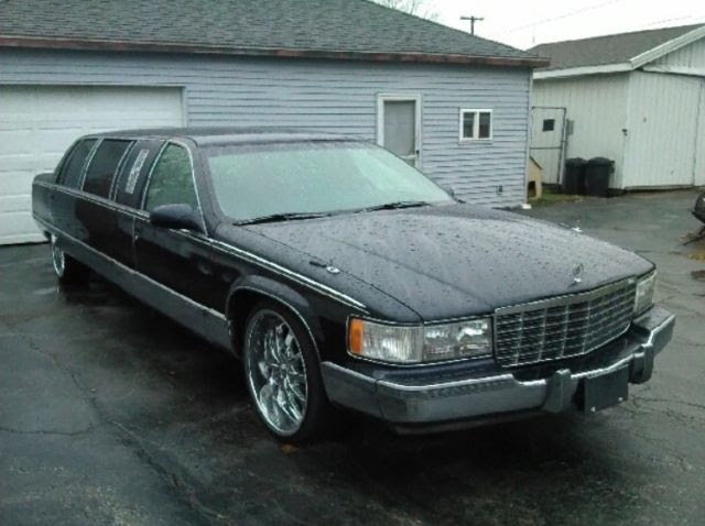 1996 cadillac fleetwood brougham limo low miles excellent ...