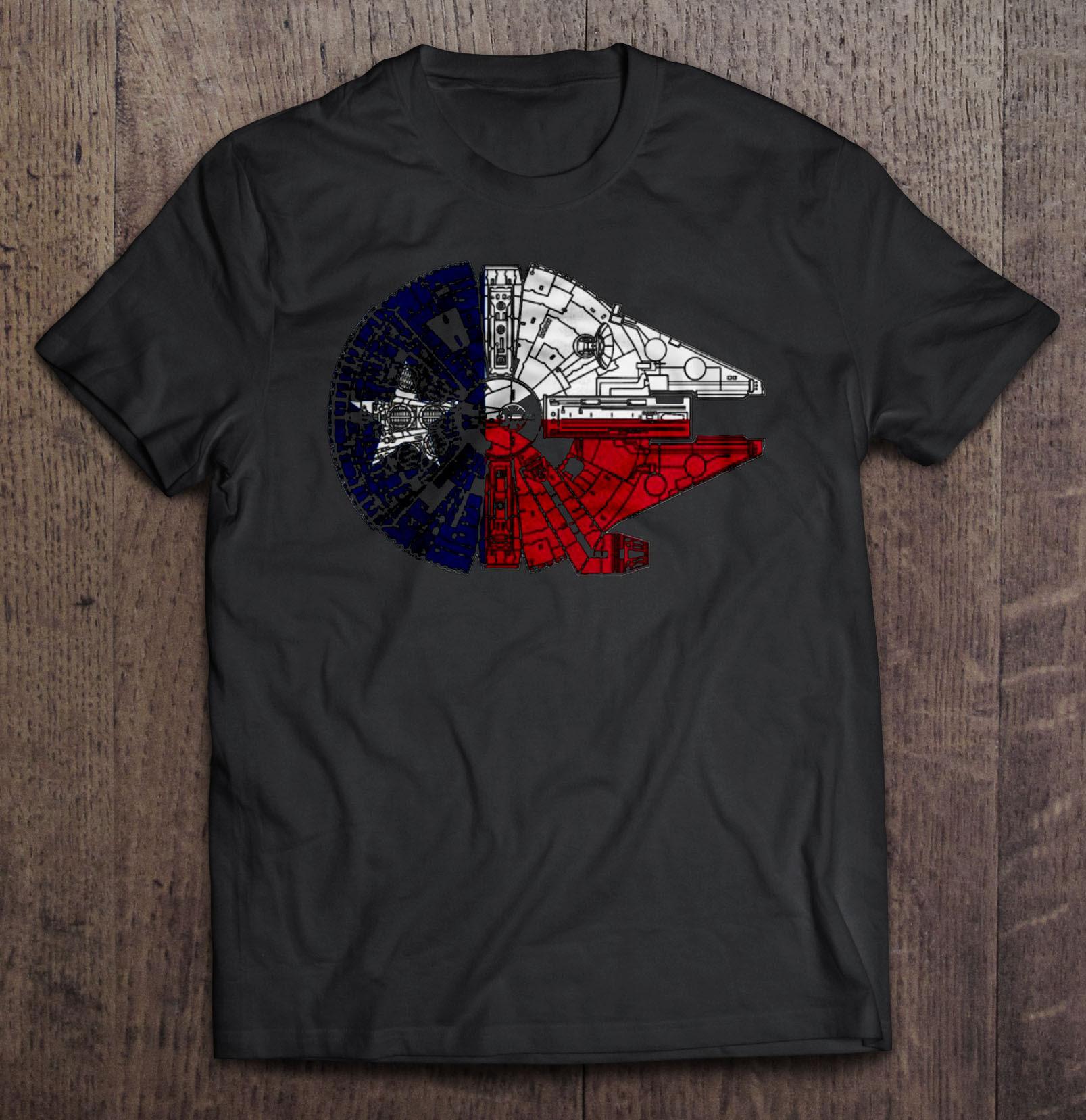 The Millennium falcon and The Texas - T-shirts | TeeHerivar