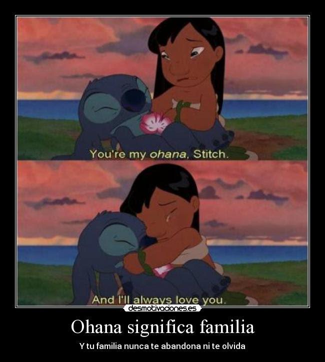 Ohana Significa Familia Desmotivaciones