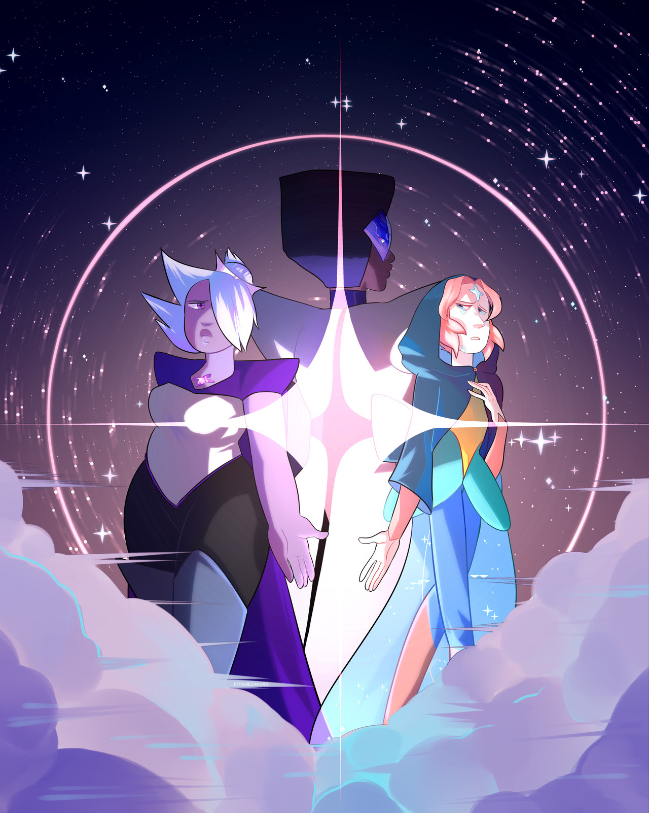 Crystal Diamonds au! (insp by @day-colors au by @preciousbabybluepearl ) SPEEDPAINT