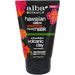 Alba Botanica Hawaiian Detox Warming Face Mud Mask AntiPollution Volcanic Clay 4 oz.