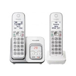 Panasonic Phones KXTGD532W Expandable Cordless Phone with 2 Handsets - White